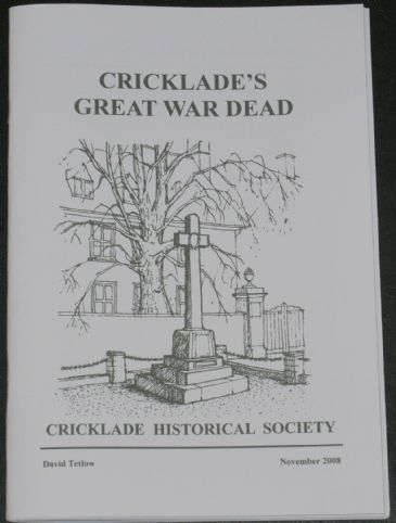 Cricklade's Great War Dead, by David Tetlow
